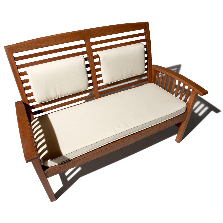 Sof de madera dura para jard n for Bancos de terraza y jardin