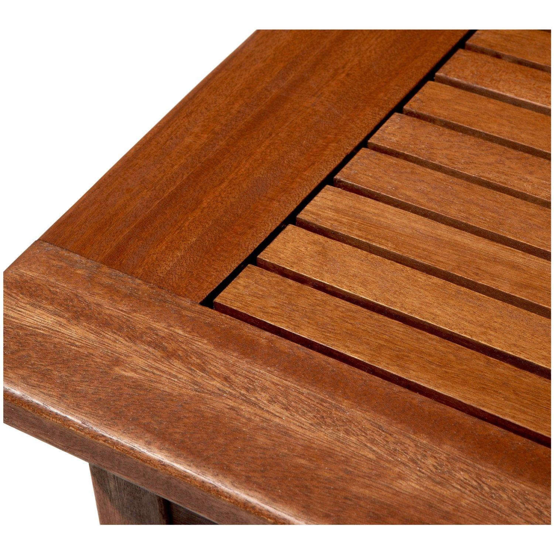 Strathwood gibranta table basse de jardin en bois dense r sistante aux intemp ries Traitement table de jardin en bois
