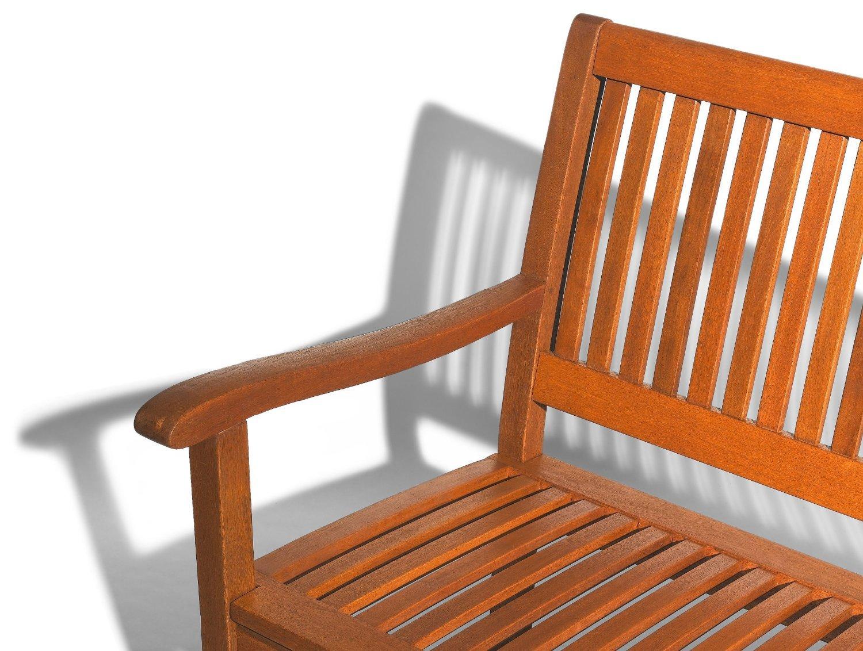 Strathwood Gartenmöbel  Basics Gartenbank aus wetterfestem Hartholz