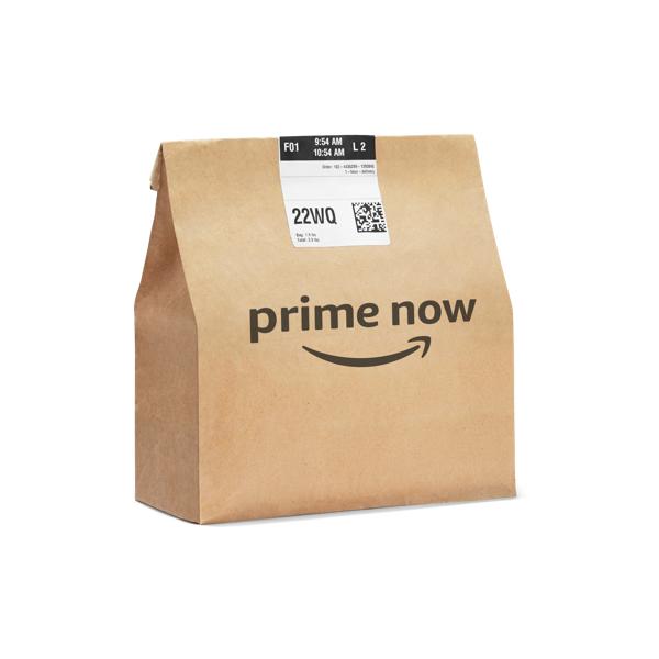 Bolsa de papel de Prime Now