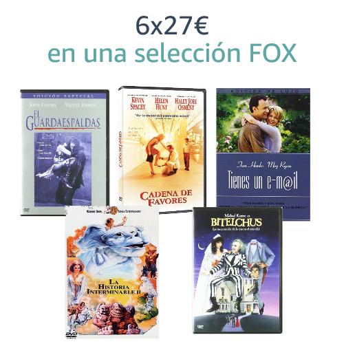6x27€ en una selección Fox