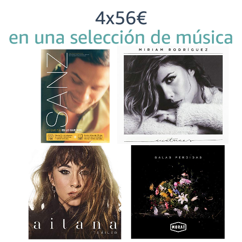 4x56€ en una selección de música