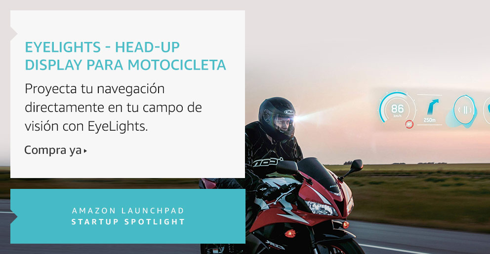 Amazon Launchpad: EyeLights - Head-Up display para motocicleta