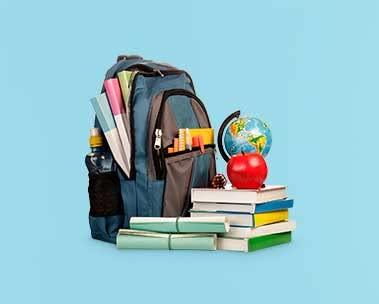 Listos para clase: libros, estuches y más