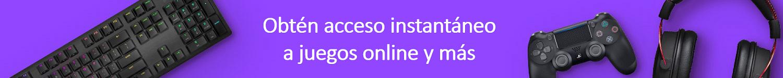 Obtén acceso instantáneo a juegos online y más