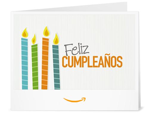 Cheque Regalo de Amazon.es - Imprimir - Velas de cumpleaños