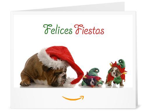 Cheque Regalo de Amazon.es - Imprimir - Cachorros de Navidad
