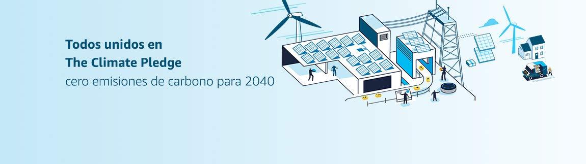 Estamos todos juntos en The Climate Pledge. Cero emisiones de carbono para 2040.