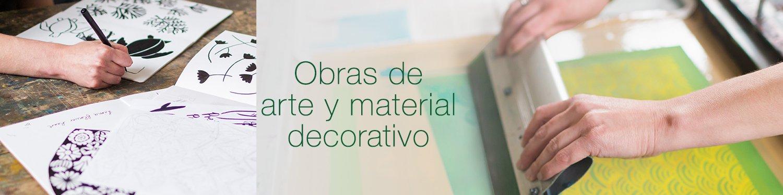 Obras de arte y material decorativo
