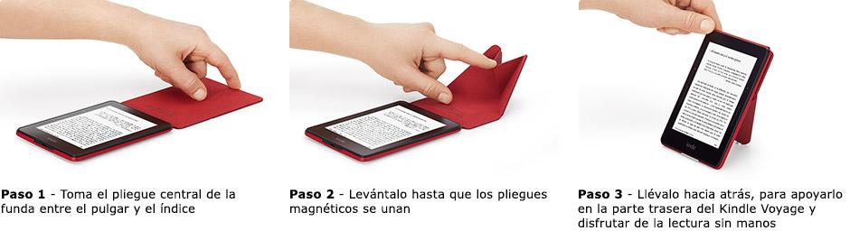 Funda de cuero Origami para Kindle Voyage (7ª generación)