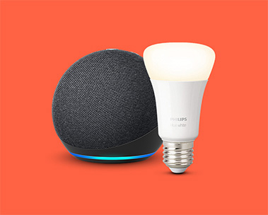 Echo Dot + Philips White Bulb