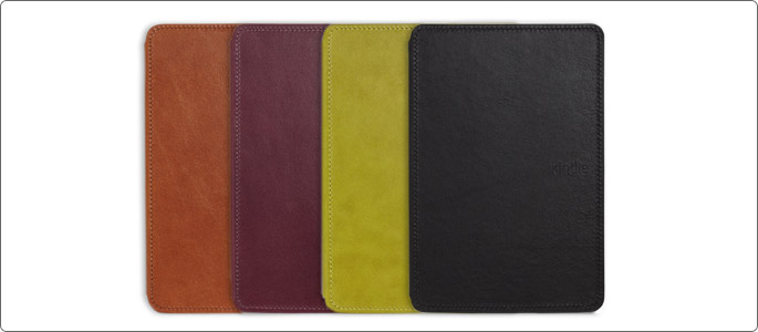 La funda de cuero oficial de Amazon, para Kindle Touch