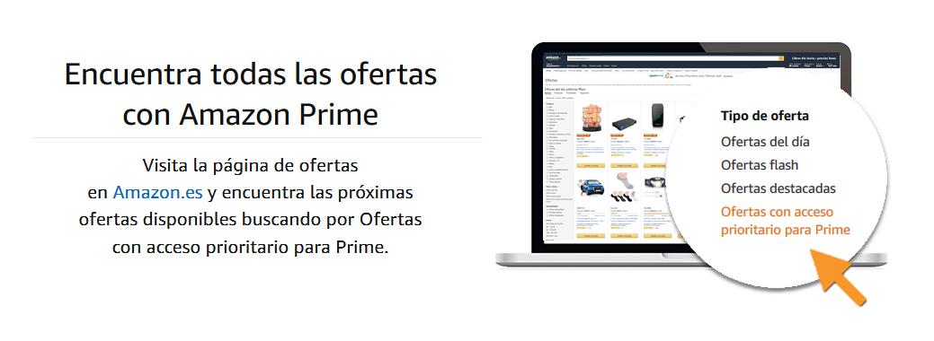 Encuentra todas las ofertas con Amazon Prime
