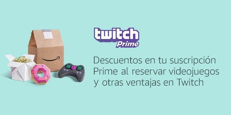 Descuentos en tu suscripción Prime al reservar videojuegos y otras ventajas en Twitch