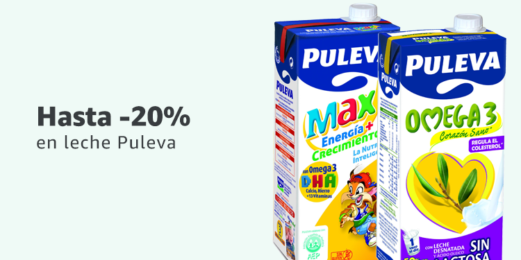 Hasta -20% de descuento en leche Puleva