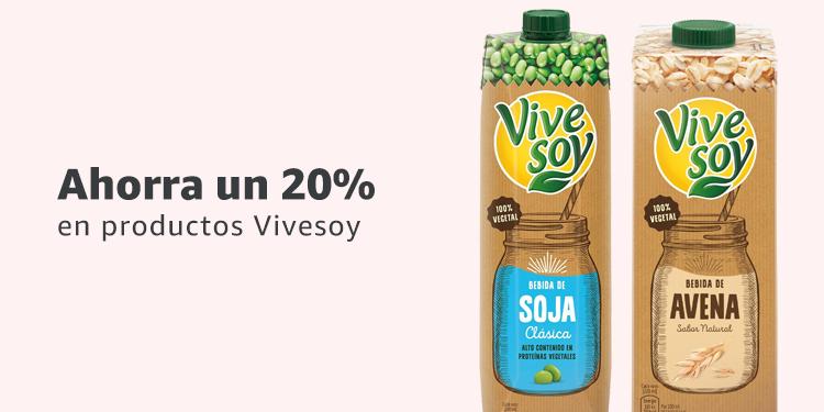 Ahorra un 20% en productos Vivesoy