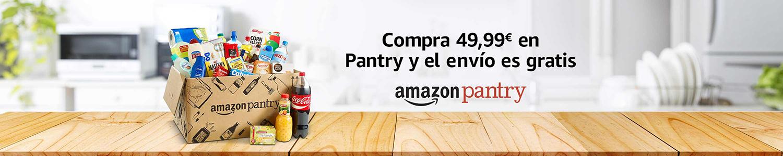 Compra al menos 49,99€ en Pantry y la entrega es gratis