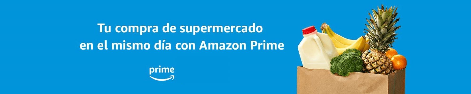 Tu compra de supermercado en el mismo día con Amazon Prime