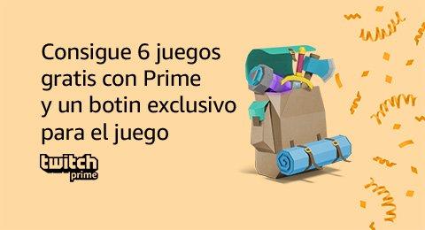Consigue 6 juegos gratis con Prime y un botin exclusivo para el juego