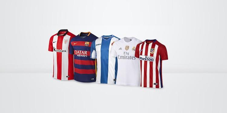 Equipaciones oficiales de equipos de primera división española, segunda división española