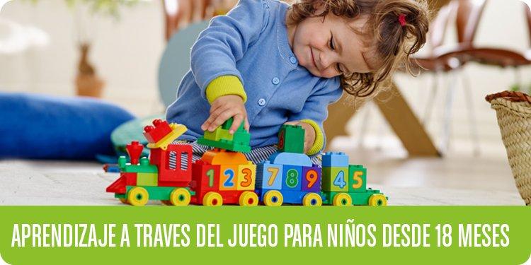 Aprendizaje a través del juego para niños desde 18 meses