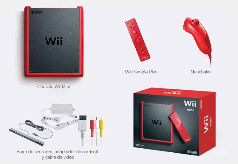 Nintendo Wii - Consola Mini, Color Rojo: Amazon.es: Videojuegos