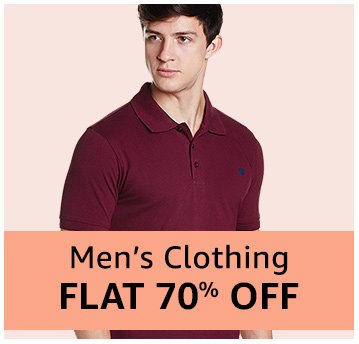 Men's clothing - Flat 70% off