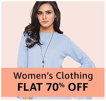 Women's clothing Flat 70% off