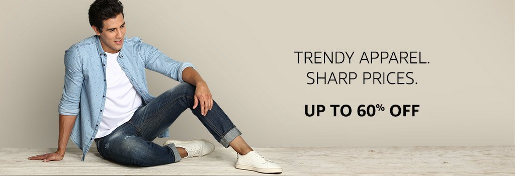 Men's Apparel: Up to 60% off