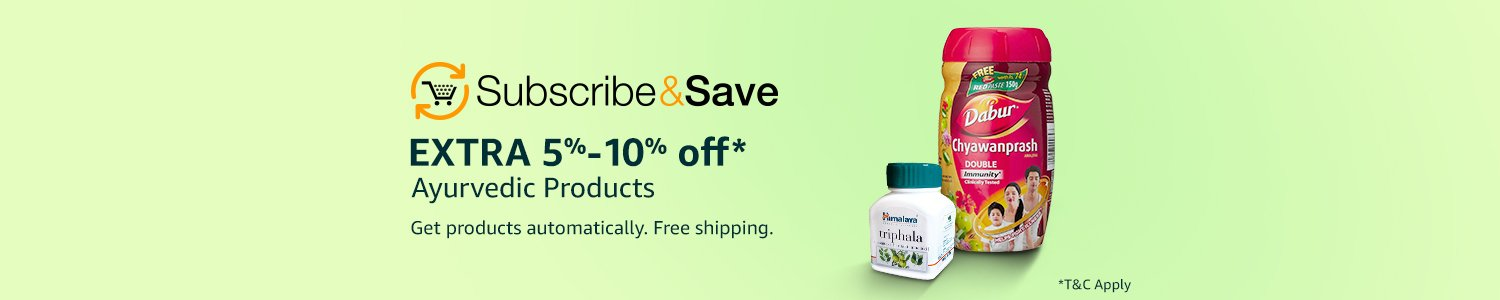 Subscribe & Save| Extra 5%-10% off Ayurvedic products| TnC apply