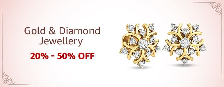 Gold & diamond jewellery:20%-50% off