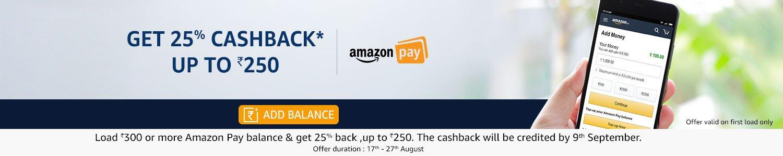 Get 25% cashback up to Rs 250
