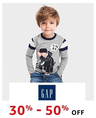 GAP: 30% - 50% off