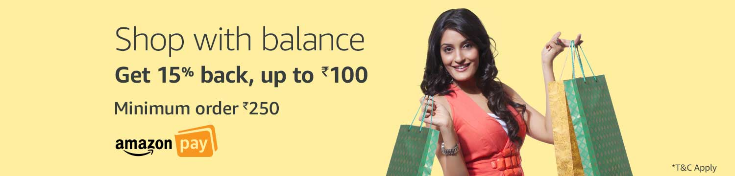 Get 15% cashback up to Rs.100