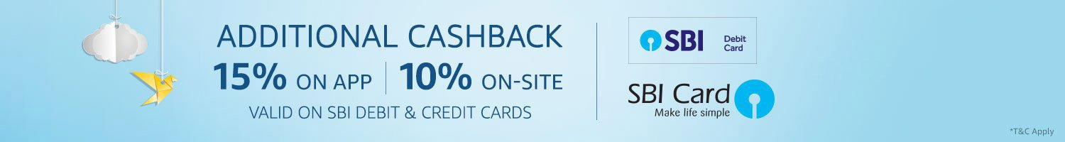 Additional cashback SBI card