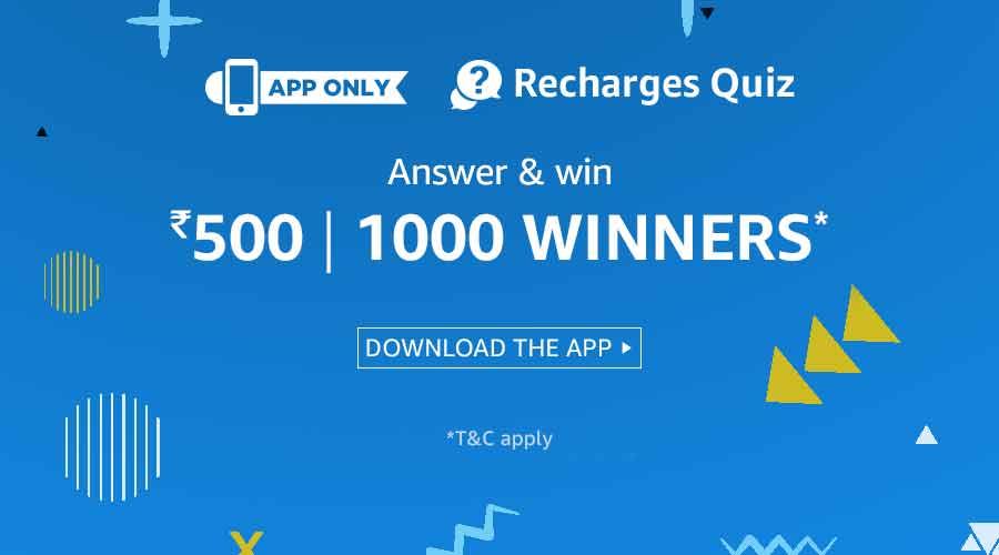 Recharges Quiz