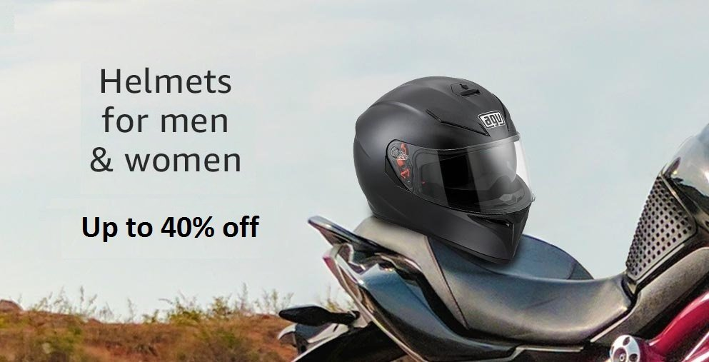 40% off on helmets