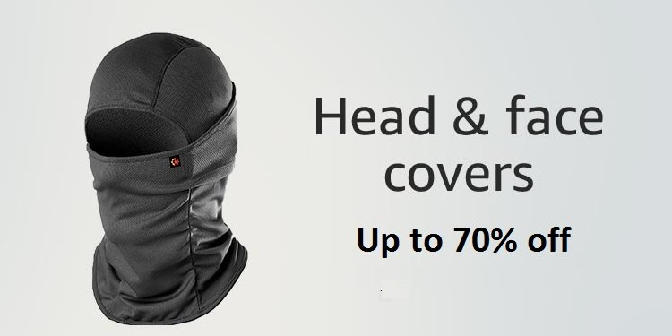 up to 70% off on head and face covers