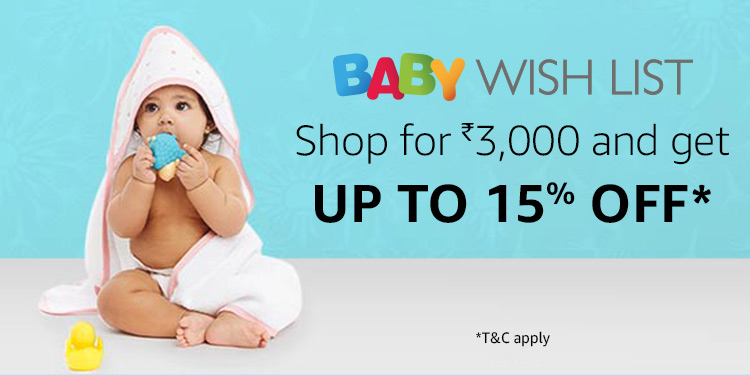 Baby Wishlist| Shop for Rs 3000 and get up to 15% off
