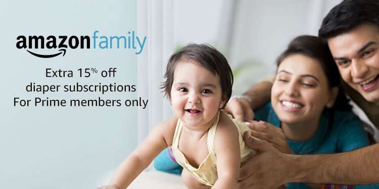 Amazon family | Extra 15% off diaper subscriptions for prime members only