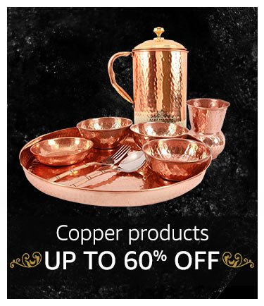 Copper products up to 60% off