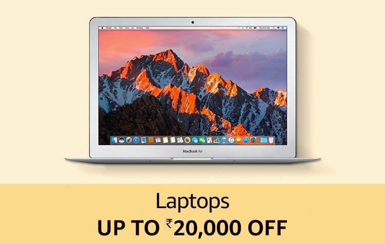 Laptops Up to 20,000 off