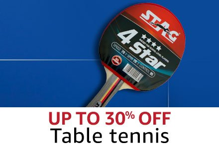 Up to 30% Table Tennis