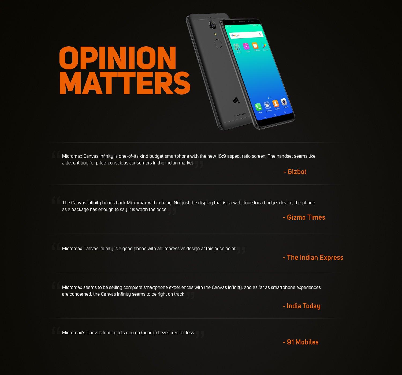 Opinion matters