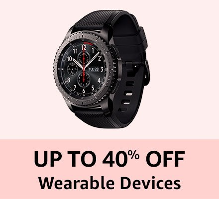 Up to 40% off Wearable devices