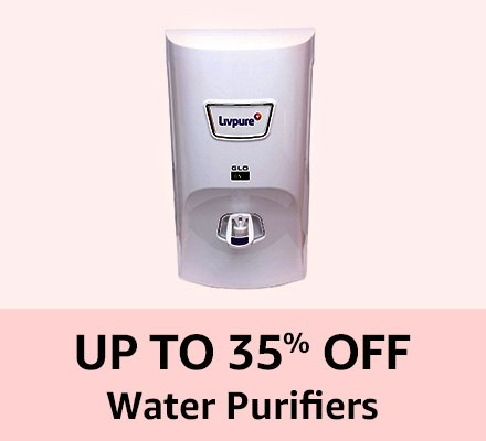 Up to 35% off Water Purifiers