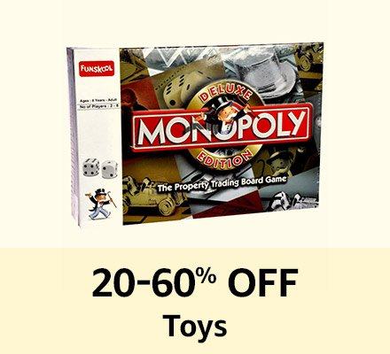 20-60% off Toys