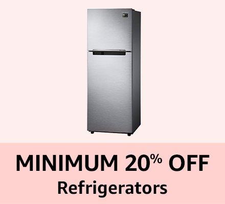 Minimum 20% off Refrigrators