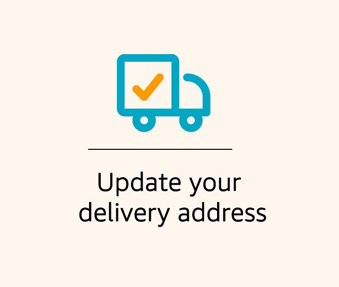 Update delivery address