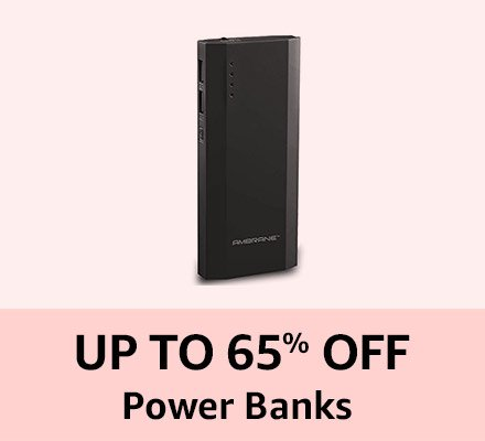 Upto 60% off Power Banks